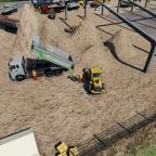 Kiesnachschub für die Großbaustelle