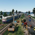 [TpF1] Repair works on the railway in the middle of the lake