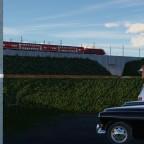 Taurus mit Dostos auf dem Bahndamm