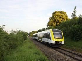 SWEG Lint54 Triebwagen zwischen Ulm- Aalen