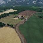 Drohnenflug über dem Bauernhof - NEP Version