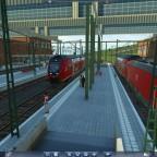 Die Linie RB4 am Gießener Bahnhof