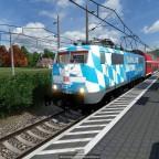 BR 111 Bahnland Bayern Lackierung