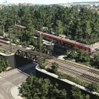 Pfühlpark Heilbronn Bahnbrücken