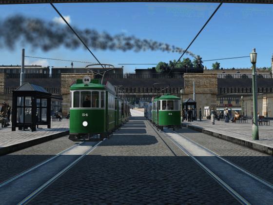 Straßenbahnbetrieb am Hauptbahnhof