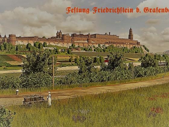 Festung Friedrichstein bei Grafenbergen - Postkarten Stil