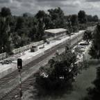 Stillgelegter Bahnhof am GBF