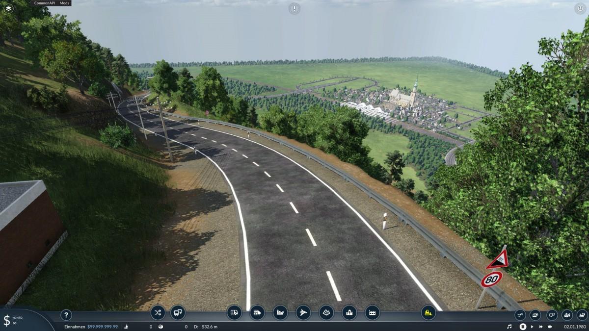 Blick auf die neue Stadt