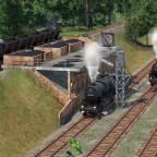 Dampflok Betriebswerk im Bau