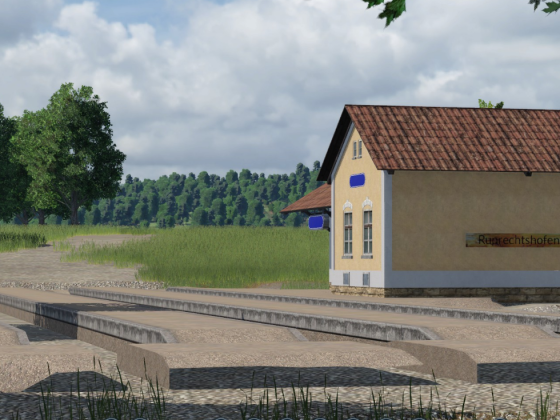 Die Krumpe - Aufgelassener Bahnhof: Ruprechtshofen