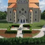 Park vor der Kirche