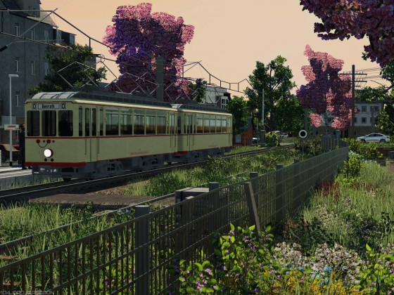 [TpF1] Rheinbahn Tw107 on the local bahn