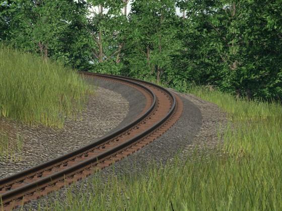 Warten auf den Zug in der Natur