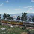 EMC E1 crossing the mountain field