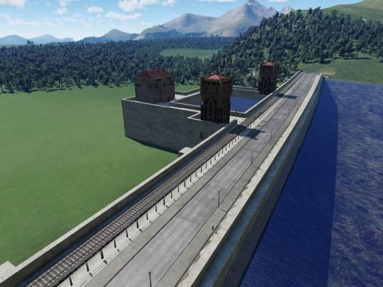 Staudamm Panorama (2)