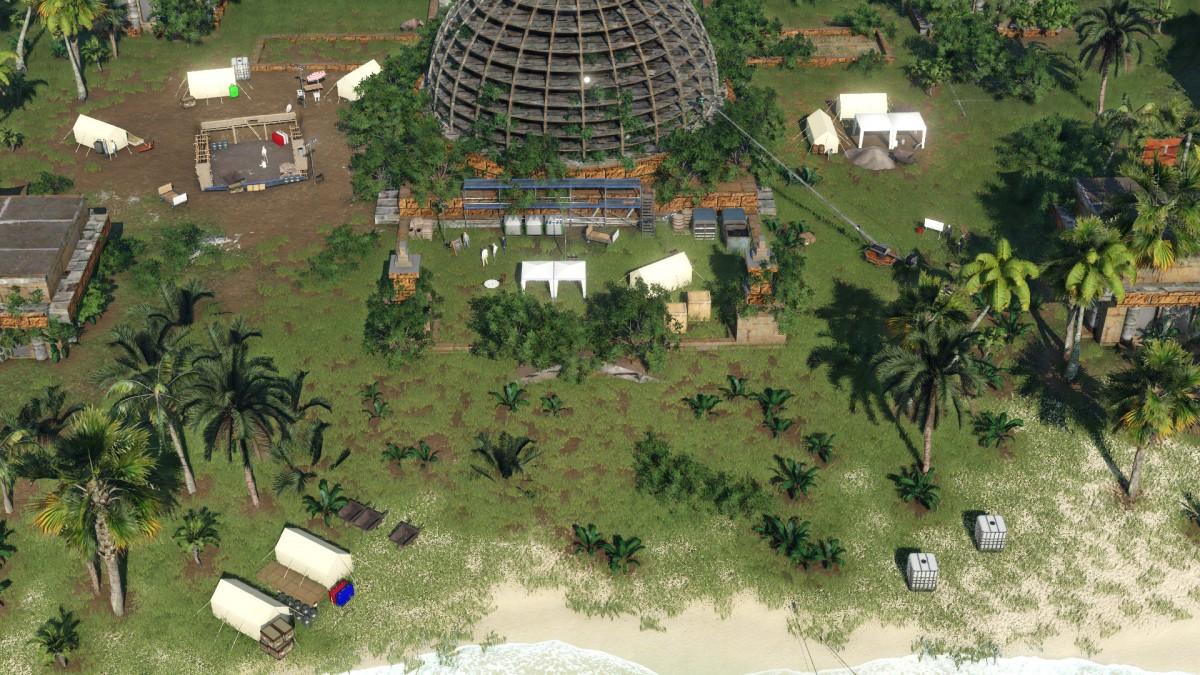 Ausgrabung auf einer kleinen Insel in der Karibik