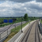 Fictional high speed line near Belgian border
