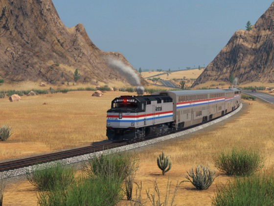 EMD F40 PH  and Superliner - Amtrak Phase III