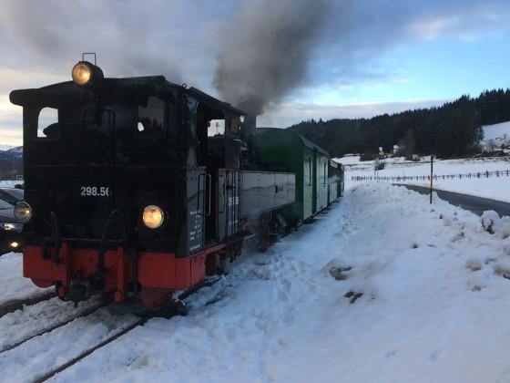 Dampflok auf der Taurachbahn