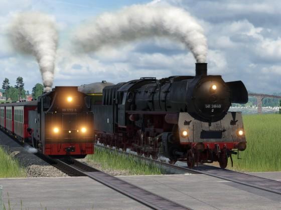 Dampfloktreffen am Bahnübergang