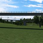 Brückenansichten - Im Vordergrund eine Nebenstrecke im Hintergrund die elektrifizierte und viergleisige Hauptstrecke