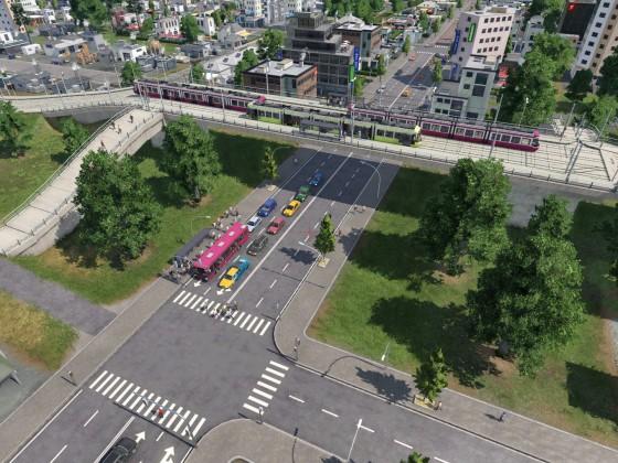 Brücke über Hauptstrasse