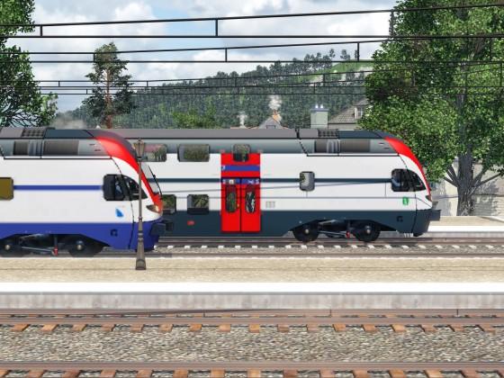 S-Bahn und FV an einem Ort.