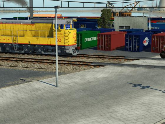 Güterverkehr im Hafen