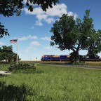 NS 2 SD70Ace near the Civil War monument