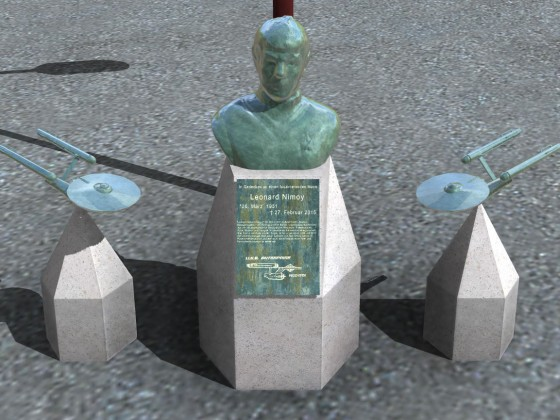 Nimoy-Denkmal auf Grimes XL Tram & Bus Station