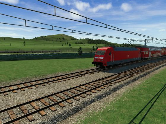 Schnellbahn am Uhler Fluss