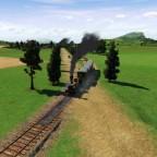 Bahnübergang in der Allee