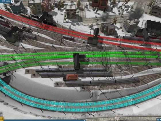 linkes Bahnhofsvorfeld mit Linien