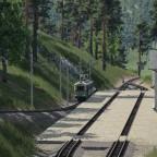 Kleine nachmittägliche Szenerie am Bahnhof Battenberg
