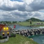 Blick auf den Hafen der kleinen Gemeinde Solothurn