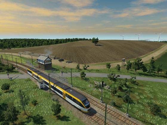 Nebenbahn auf dem Lande