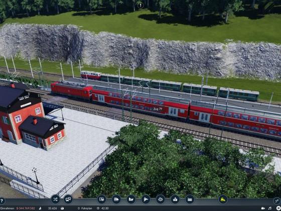Der kleine Bahnhof von oben.