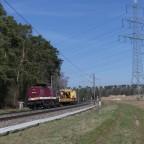 204 425 mit Bauzug Richtung Ansbach