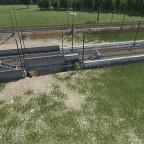 Versuche zum bauen einer Hochgeschwindigkeitsstrecke im Betonbett