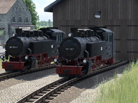 Baureihe 99.77-79 am Depot