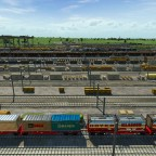 Und wieder ein Güterzug der Waren für eine Stadt abholt