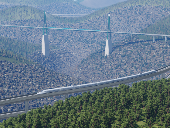 Die Kontinentalbrücke / Crossing the Great Divide