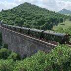 Auf dem Nossener Viadukt