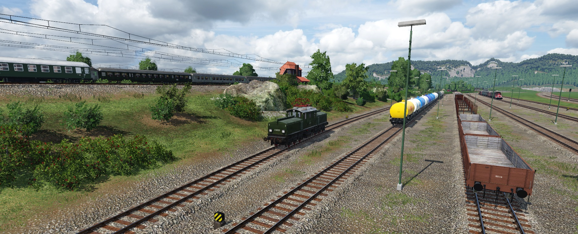 E 80 im Rangierbetrieb im Schwarzwald