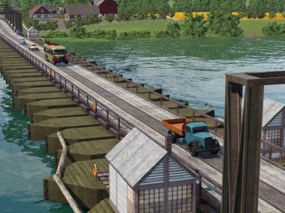 Die Schiffsbrücke von Furth