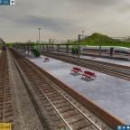 Der Bahnhof Mannheim mit dem ICE 3 aus Hamburg und der BR 425 als S-Bahn nach Ludwigshafen
