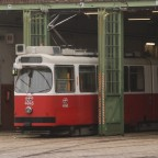 Type E der Wiener Linien im Straßenbahndepot