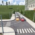 Trefen der Straßenbahn Linien 6 und 8