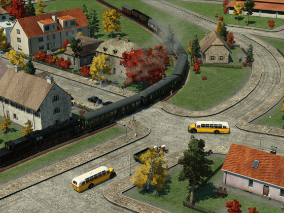Personenzug mit Güterbeförderung