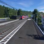 RB 42 bei der Einfahrt in den Bahnhof Bärskirchen